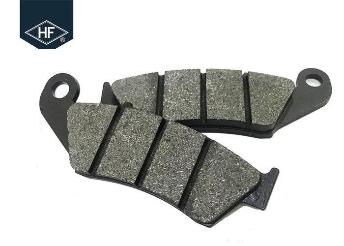 Less Metallic Oem Brake Pads , Black Motorcycle Racing Brake Pads CRM 250 Non Asbestos