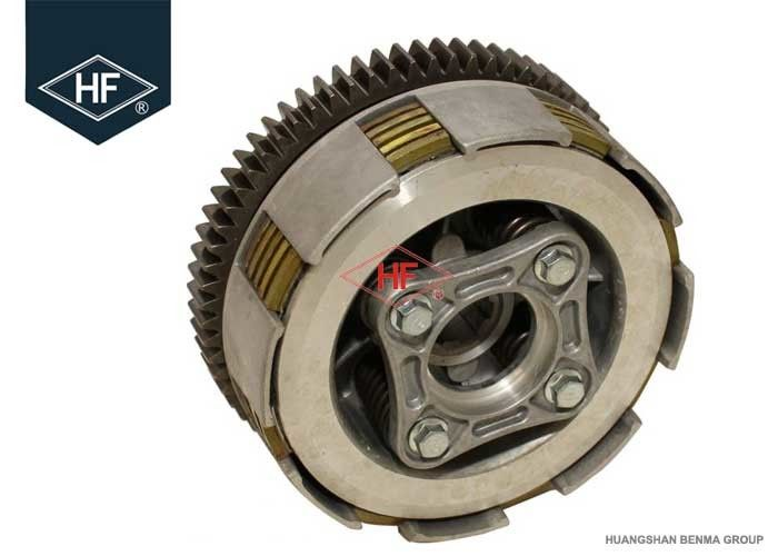 4 Column Honda Cg 125 Engine Parts , Dirt Bike Clutch Assembly With Friction Pressure Plate